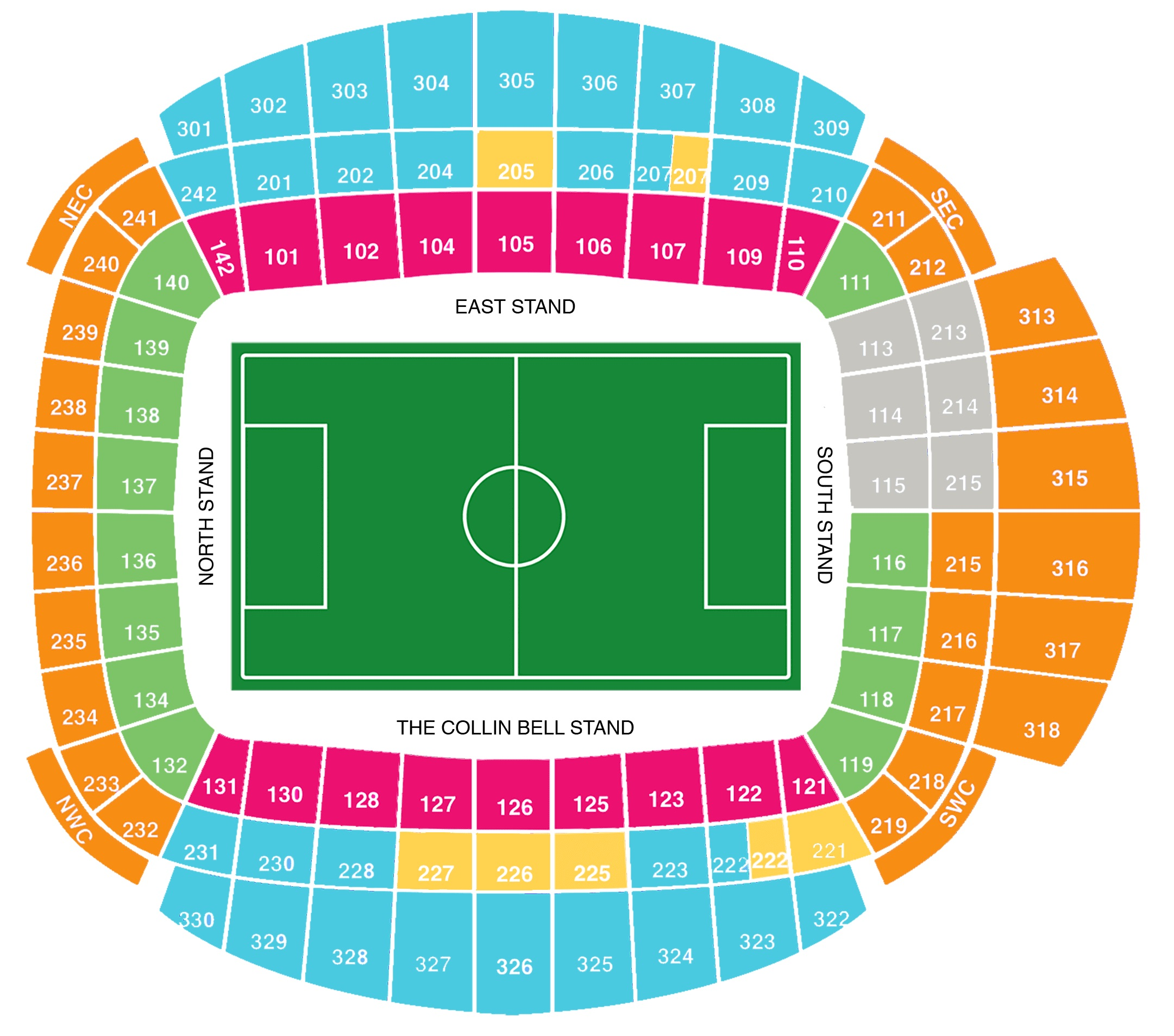 Manchester City Stadion Plan